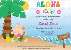 Luau Baby Shower Invitation / Hula Baby by EclecticallyEmily