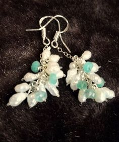 Columbian Emerald and Pearl  Earrings by Created2Inspire on Etsy, $40.00