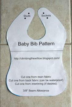 Climbing the Willow: baby bib tutorial