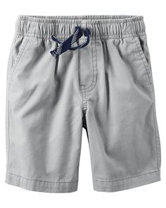 Baby Boy Pull-On Canvas Shorts | Carters.com