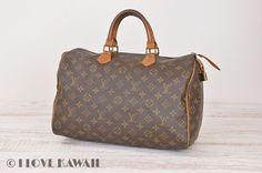 Louis Vuitton Monogram Speedy 35 Hand Bag M41524
