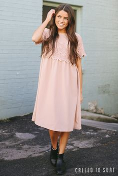 Chic modest dresses | Who said modest has to be boring? Amp up your closet with these spring dresses at calledtosurf.com