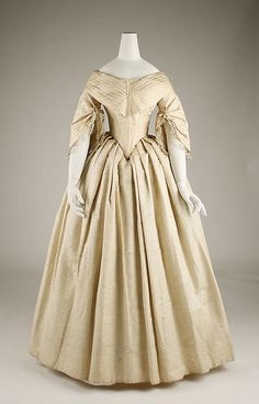 Wedding ensemble Date: 1844 Culture: European Medium: silk
