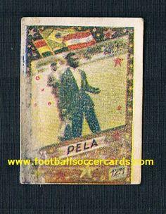 1961 image of Pelé on a 1961-1962 gum card from former Yugoslavia, hence the Serbo-Croat language PELA Soccer Cards, Football Cards, Baseball Cards, World Football, Football Soccer, Rarity, Ephemera, Language, Image