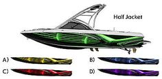 Half Jacket Boat Wrap - * Choose Your Color * Customized for Your Boat