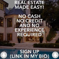 Want to learn how to flip houses with no money down techniques? Click theLink in bio@ThinkSmartGrowRich to register for this free webinar! by thinksmartgrowrich