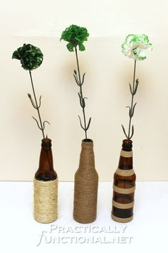 Twine Wrapped Bottles | Practically Functional