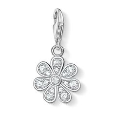 Thomas Sabo Silver Clear CZ Flower Charm 0814-051-14