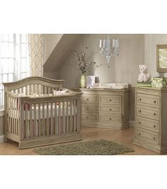 Baby Cache Montana 4-in-1 Convertible Crib - Driftwood  Liams baby set 4, 5, 5