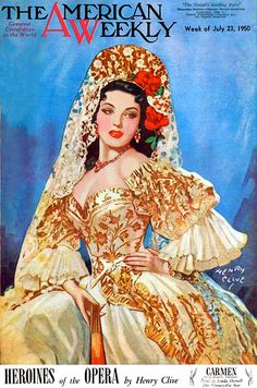 """American Weekly, """"Carmen"""", 1950, Henry Clive."""