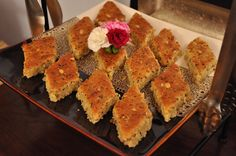 The whole fenugreek seed in this Palestinian cake can have a strong, bitter flavor, which is why the recipe calls for soaking and cooking it.