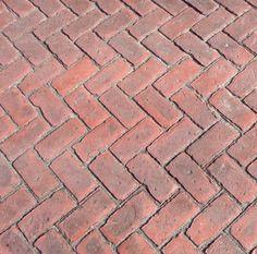 Stamped Concrete Patios Mi Patio Brick Herringbone Idea