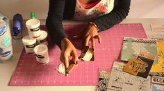 Scrap Y café - Tutorial Stencil y Gesso. #Scrapbooking #Scrap #Crafts #Art #ScrapYcafé