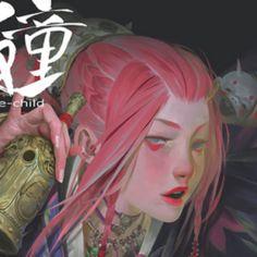 沙塲   ZeenChin - 原创作品 - 涂鸦王国 Character Concept, Character Art, Alice, Scary, Digital Art, Novels, Fantasy, White Space, Drawings