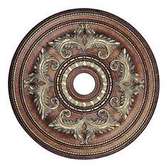 Livex Lighting Prefinished 30 1/2 Inch Acanthus Ceiling Medallion | Van Dyke's Restorers®