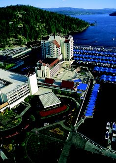 Lovely aerial photo of the Lake and The Coeur d'Alene Resort