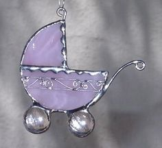 Would make a cute Christmas ornament to signify new baby / baby's 1st Christmas. Warner Stained Glass - Paige Carroll Online Gallery