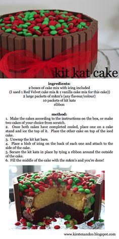 kit kat cake. Oh, yeah!