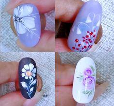 Nails Art The Best Nail Art Designs Compilation Diy Abschnitt, Floral Nail Art, Red Nail Art, Cute Nail Art, Nail Art Diy, Gel Nail Art Designs, Nail Art Designs Videos, Nail Art Videos, Nail Art Flowers Designs, Nail Art Hacks