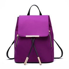 Shelian Small Cute Womens Backpacks Purse Schoolbag Purple ** To view further for this item, visit the image link.