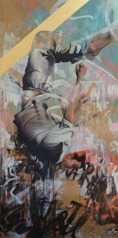 Sebastian Wandl / Down / 200x100 cm / 2015 www.sebastianwandl.de #Wandl #Urban #Art #StreetArt #München #SebastianWandl