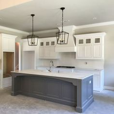 Supreme Kitchen Remodeling Choosing Your New Kitchen Countertops Ideas. Mind Blowing Kitchen Remodeling Choosing Your New Kitchen Countertops Ideas. Farmhouse Kitchen Cabinets, Farmhouse Style Kitchen, Modern Farmhouse Kitchens, Kitchen Redo, Home Decor Kitchen, Kitchen Countertops, New Kitchen, Cool Kitchens, White Farmhouse