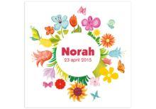 www.kaartjesenco.be meisje Geboortekaartje Norah