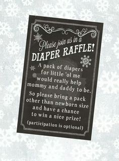 This chalkboard inspired Diaper Raffle Ticket is associated with the Baby Its Cold Outside invitation in my shop here:: Cowboy Baby Shower, Boho Baby Shower, Baby Shower Games, Baby Boy Shower, Shower Time, Shower Party, Baby Shower Parties, Outside Baby Showers, Diaper Shower