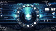 Blue-Circle-Rainmeter-Theme-for-Windows7