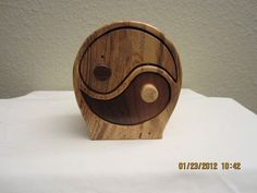 After my search for Yin Yang boxs here on LJ I was not able to find what I was looking for so I decided we needed one :) I'm a bit late for the contest but if there's another I'll be ready. :) This box I made out of Spalted Hackberry and Waln. Small Wooden Boxes, Wood Boxes, Feng Shui, Scroll Saw, Yin Yang, Woodworking Projects, Community, Technology, Crates