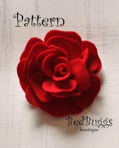 Flower Brooch Pdf Tutorial Headband Pattern by bedbuggspatterns, $4.99
