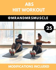 Abs and Obliques Workout – Fun HIIT with Modifications. Tone and… Abs and Obliques Workout – Fun HIIT with Modifications. Tone and sculpt your entire core in this intense Abs HIIT Workout! Abs And Obliques Workout, Full Body Hiit Workout, Hiit Workout At Home, Oblique Workout, Gym Workout Tips, Abs Workout Routines, Workout Challenge, Fun Workouts, At Home Workouts