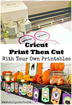 Using Cricut Print Then Cut to Cut Out Your Own Printables - The Silly Pearl