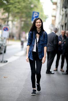 Milan Fashion Week Models Off Duty Spring 2016