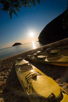 Kayaking at Onetahuti Beach in Abel Tasman National Park