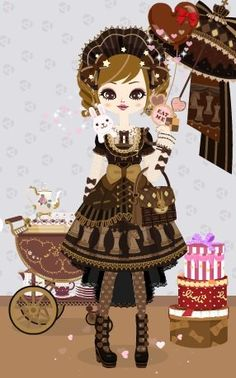 Valentine's Day Poupee. Bitter sweet lolita style. pupe.ameba.jp More