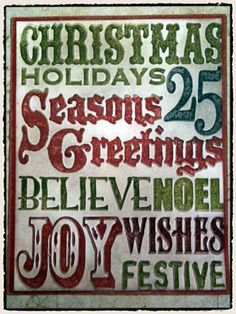 Christmas stamp and texture fades -http://timholtz.com/stamps-and-texture-fades/