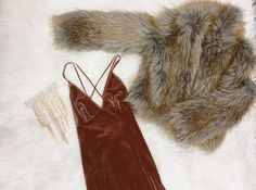 Shop for your Holiday Dresses Jackets..and Jewelry!  Sydney Dress Jackie Faux Fur Jacket Daphne Necklace