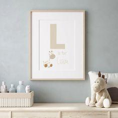 Personalised Baby Print Neutral Nursery Nursery Wall Art | Etsy Baby Prints, Nursery Prints, Nursery Wall Art, Wall Art Prints, Personalised Family Print, Feather Wall Art, Custom Baby Gifts, Nursery Neutral, Etsy