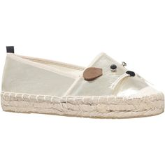 Miss KG Dayton Mouse Espadrilles, Gold (1,110 MXN) ❤ liked on Polyvore featuring shoes, sandals, gold sandals, gold slip on shoes, espadrilles shoes, flat sandals and espadrille sandals