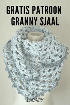 Granny scarf with thicker yarn - pattern - Kreanimo - Free pattern granny scarf me picot edge pattern pattern - Crochet Easter, Crochet Food, Crochet Gifts, Easy Crochet, Free Crochet, Beginner Knitting Patterns, Crochet Patterns, Thick Yarn, Crochet Needles