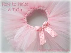 Tutus!  Here is the instructions for DIY tutus.