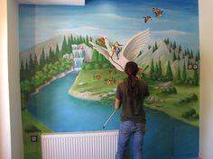Ζωγραφική παιδικού δωματίου με το Nils Holgersson_Dream-Art
