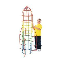 Straws & Connectors, 400 pieces - The Straws and Connectors sets are a great play room activity. They can be used to build a fort, rocket, boat, tower, tunnel, bridge, hideout, or any other structure that can be imagined! The straws fit snuggly on the connectors, but are flexible so you can build arches and tubes. 400 pieces. $24.99