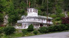 """A Home in Nelson B. just a few blocks East of the Orange Bridge that includes part of the Superstructure of the kootenay Lake Steamer """"Nasookin"""" Vancouver City, Great Lakes, Handmade Jewellery, Steamer, British Columbia, West Coast, Pilot, Bridge, Rocks"""