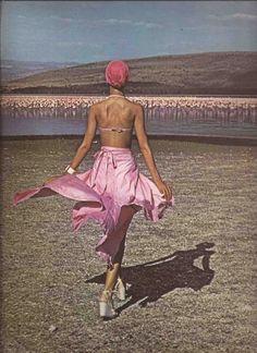 pat cleveland - barry mckinley 1974 : Pink Flamingos Lake Nakura Fashion - Lothar's Beauchamp Place