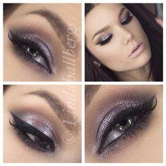 Smoky with purple sparkle Purple Smokey Eye, Purple Eyeshadow, Eyeshadow Makeup, Eyeliner, Diy Beauty, Beauty Makeup, Hair Makeup, Beauty Tips, Mua Makeup