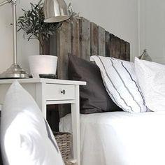 Wood Plank Headboard, Cottage, bedroom, Stylizimo Blog