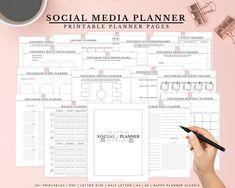 Blog Planner, Planner Pages, Printable Planner, Printables, Monthly Planner, Amazing Tools, Social Media Planner, Instagram Feed Planner, Help Instagram