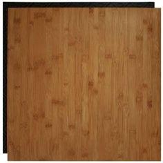 Bamboo vinyl tile designed for basement flooring